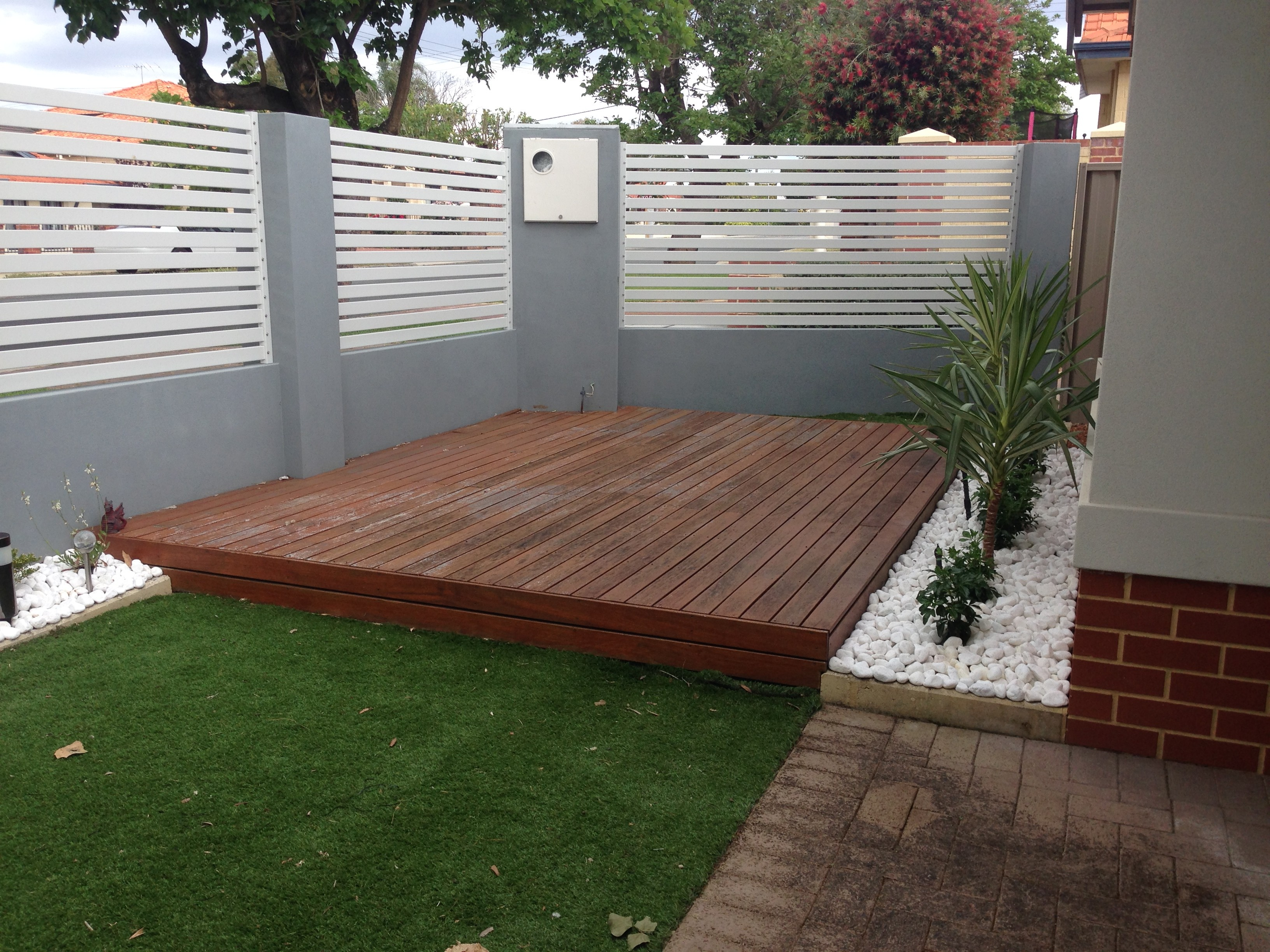 Decking Before